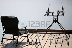 Portable Armchair Portable Armchair For Rest Spinning Rods With Reels Laying Near