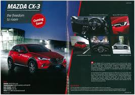 mazda cx3 2015 mazda cx 3 estimated to arrive in november 2015 tentative rm120k