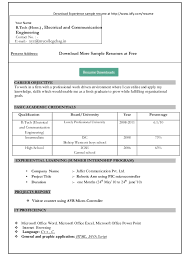 A Resume Template On Word Simple Resume Format In Word Resume Cover Letter Template