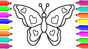 how to draw butterfly coloring pages for kids art colors for