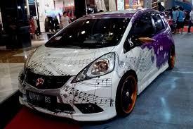custom honda fit modified melody paint graphics street racing