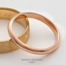 alliance de mariage alliance mariage demi jonc or bassata paulette à bicyclette