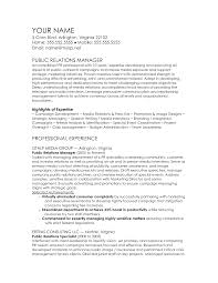 Public Administration Resume Objective Sample Public Relations Manager Resume 22 Pr Entry Level Dynamic