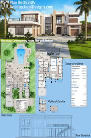 Luxurious House Plans Plan 86052bw Marvelous Contemporary House Plan With Options