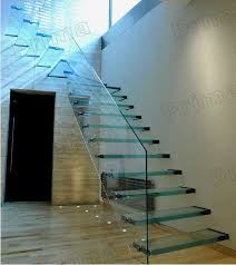 open riser staircase laminated glass staircase glass stairs for