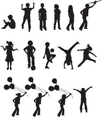 free silhouette images free vector children silhouettes free vector in encapsulated