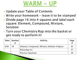 warm up update your table of contents ppt video online download