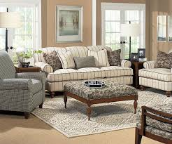 plaid living room furniture pin stripes of charcoal gray on a linen colored background are