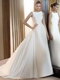 plain white wedding dresses bateau neck sheer sleeves simple satin gown wedding