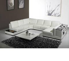 Modern Leather Sectional Sofa Dreamfurniture Com Divani Casa T75 Modern Leather Sectional Sofa