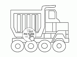 big cartoon dump truck coloring page for kids transportation