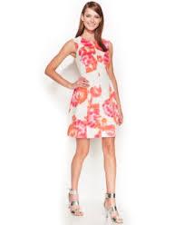 calvin klein floral print a line dress dresses women macy u0027s