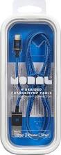 modal apple mfi certified 4 u0027 braided lightning cable blue md ma5bb