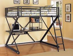 bedroom endearing powell z bedroom full size metal loft bed with