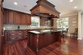 Floors Traditional Dark WoodCherry Kitchen Cabinets  Kitchen - Cherry cabinet kitchen designs