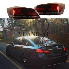 taillight for honda accord sedan 2013 2015 led brake red tail