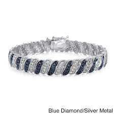 blue diamond bracelet images Shop db designs 1ct tdw black or blue and white diamond bracelet jpg