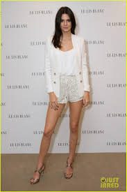 le lis kendall jenner shows some skin at le lis blanc cocktail party