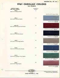 Automotive Paint Code Location Official Cadillac Color Names And Paint Codes Page 4