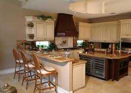 stove in peninsula kitchen contemporary with