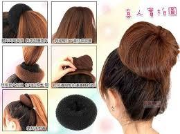 hair bun maker instructiins 8 best shells donut doughnut ring images on pinterest chignons