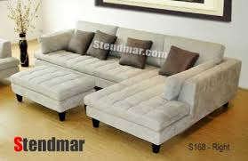 Suede Sectional Sofas 3pc New Modern Gray Microfiber Sectional Sofa S168rg