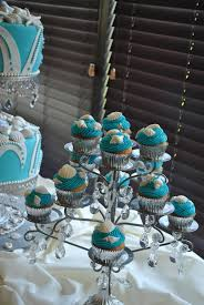 Black White Turquoise Teal Blue by Wedding Cupcake Towers By The Cake Zone The Cake Zone
