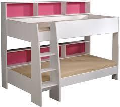 Parisot Tam Tam White Bunk Bed With Shelves - Parisot bunk bed