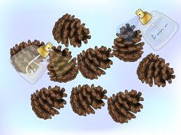 how to make christmas tree pine cones with pictures wikihow