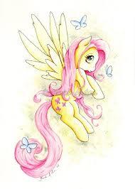 my little pony fluttershy art print mlp butterfly sarah alden