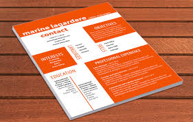 Resume Indesign Template Professional Cv Precise Resume Mycvfactory