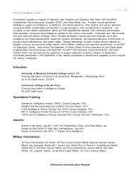 Intelligence Analyst Resume Lee Military Resume 2015