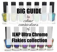 big guide to colour combinations of ilnp ultra chrome flakies