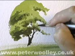 a simple tree watercolour demonstration by peter woolley youtube