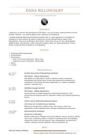 Dental Assistant Resume Sample Quality Assurance Resume Examples Resume Example And Free Resume