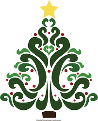 fancy christmas fancy christmas tree clipart clipartxtras