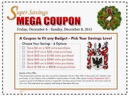 holiday coupon super savings mega holiday coupon