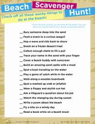 beach scavenger hunt worksheet education com