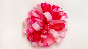 ribbon for hair how to make a loopy puff ribbon hair bow