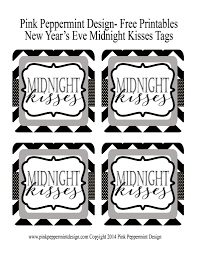 Free Printable Halloween Tags For Gift Bags by New Year U0027s Eve Midnight Kisses Free Printable Tag And Party Favor