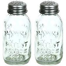 amazon com blue ceramic mason jar salt and pepper shaker by world