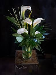 Modern Flower Vase Arrangements Modern Calla Lily Vase