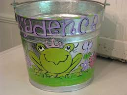 painted easter buckets ooh wee designs easter buckets