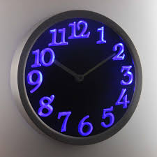 ivation clock superb led light wall clock 29 karlsson led white light wall clock