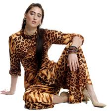 1970s jumpsuit vintage 1970s palazzo pant jumpsuit with tiger and leopard print