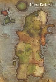 kalimdor map map of kalimdor of warcraft