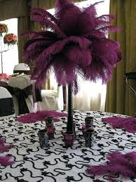 ostrich feather centerpieces ostrich feather and flower centerpieces purple ostrich feather
