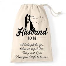 wedding gift personalised personalised wedding gift bag for the husband to be a gift