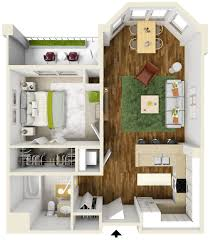 elegant one bedroom apartments for house design inspiration with