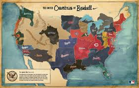 2007 World Map nike made this u0027united countries of baseball u0027 map in 2007 to